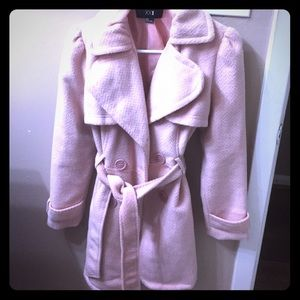 Blush colored forever 21 trench/peacoat