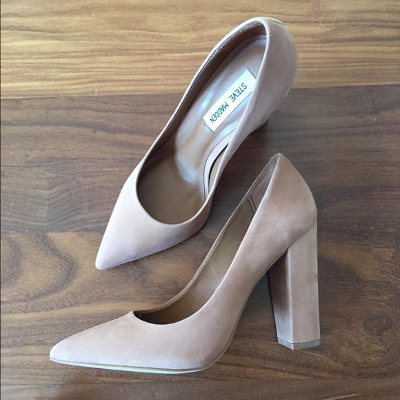 76e2e4f0655 Steve Madden Primpy Nude Heels 8.5