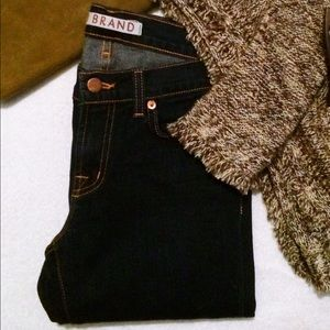 J Brand Dark Denim Straight Leg Jeans