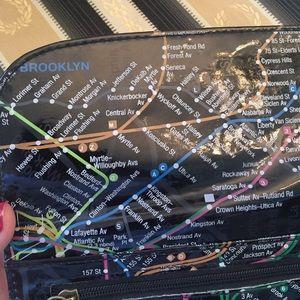 Nyc Subway Map Zippered Wallet.New York City Subway Map Wallet