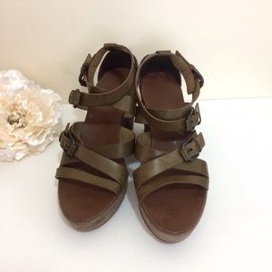 NWOT New J. CREW Giovanna Leather Wedges SIZE 9