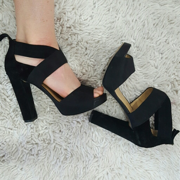 Black Heels Thick Heels Comfy | Poshmark
