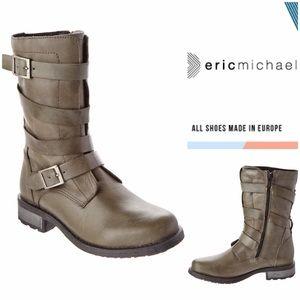 Eric Michael Shoes - NWT Eric Michael Grey Parigi Combat Boots (6-6.5)