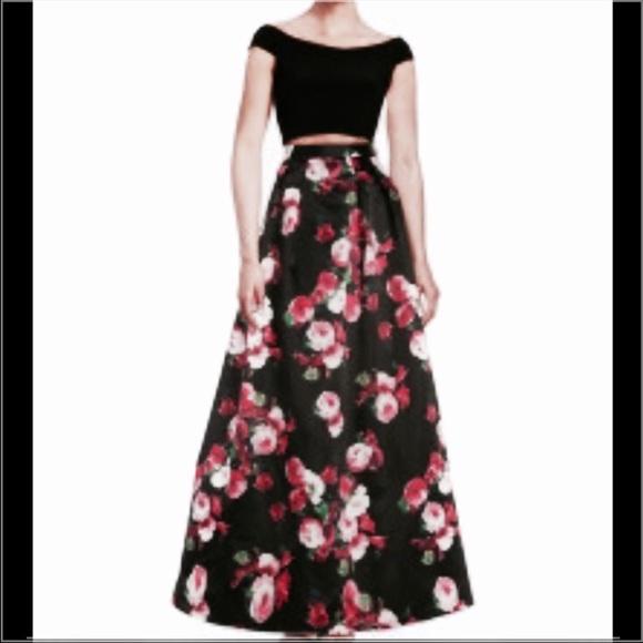 386922d9 Xscape Dresses | 2piece Crop Top And Floral Skirt | Poshmark