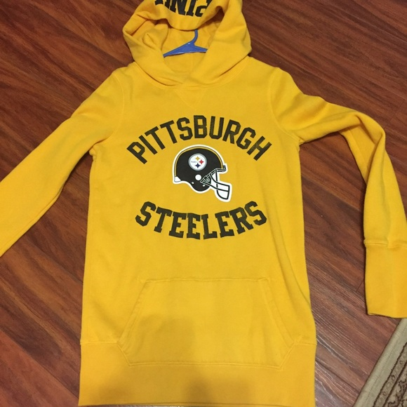 sports shoes 85d1a c531f Victoria's Secret PINK NFL Steelers tunic hoodie