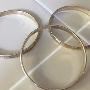 Jewelry - Set of three sterling silver bangles