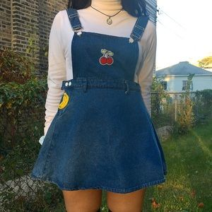 Fruits denim dress
