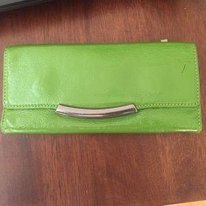 HOBO green leather wallet