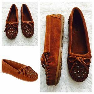 Minnetonka Shoes - Minnetonka Double Studded Suede Moccasins (6.5-7)