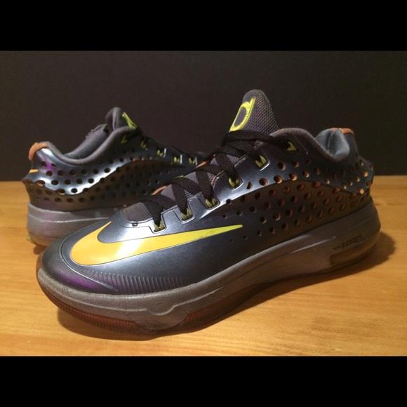Mens Size 8 Nike Zoom 35 Kd Gray Yellow