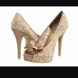 Chinese Laundry Shoes - Chinese Laundry Lace peep toe heels