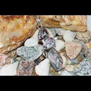 Multiple Jasper Statement Pendant 3""