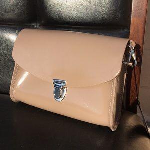 Cambridge Satchel Handbags - Cambridge Push Lock Patent Leather Crossbody