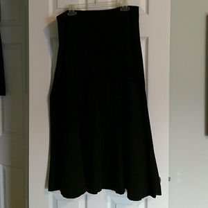 Ankle length black trumpet skirt Covington 16