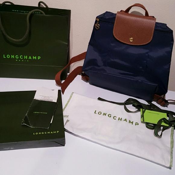 Longchamp Le Pliage Nylon packable backpack purse