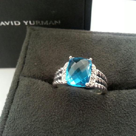 4b00c8552367b Reseved!! DY Blue Topaz Petite Wheaton Ring