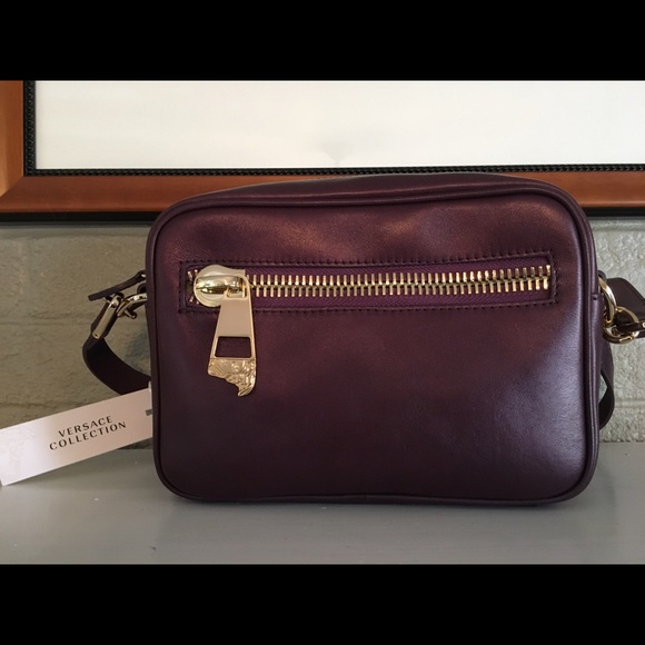 9f78e295ef SALE!! Versace Collection Leather Logo Bag -Firm