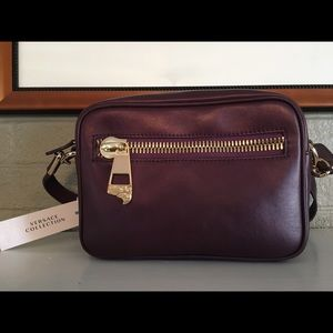 Versace Collection Leather Logo Bag