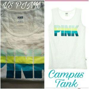 PINK Victoria's Secret Tops - Victoria's Secret PINK Varsity Campus Gray Tank