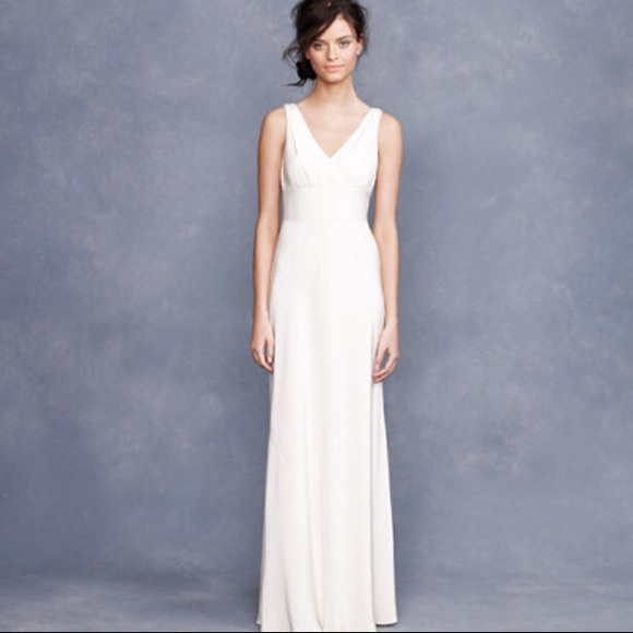 J Crew Dresses Final Sale J Crew Ethereal Gown In Silk Chiffon