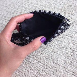 ASOS Bags - Handmade black and clear beaded purse