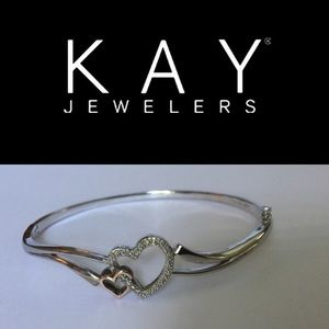 Kay Jewelers Jewelry - Kay Jewers 10k Rose Gold Diamond Heart Bracelet