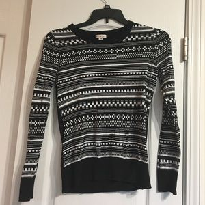 Black/White Print Sweater