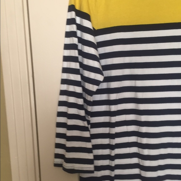 Old navy yellow and white striped dress