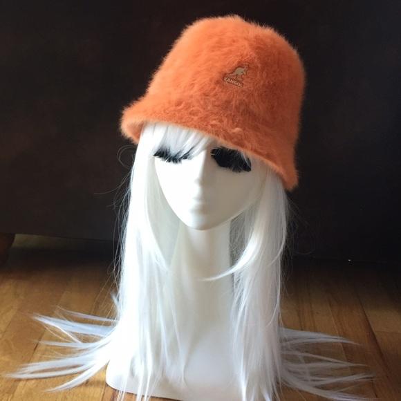 7bdfc824be91d Kangol Accessories - Kangol orange fuzzy bucket hat New