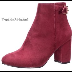 Evolving Always Shoes - 🆕Wine/Burgundy  Ankle Boots Read Description