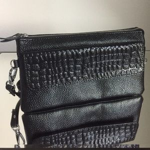 Pebbled Leather Crossbody Bag