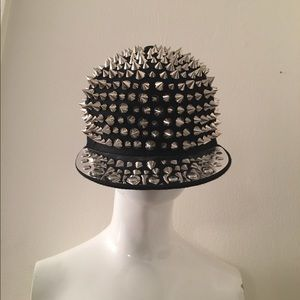 Metal Spiked Hat