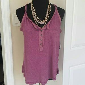 Free People Tops - NWT Free People Linen Henley