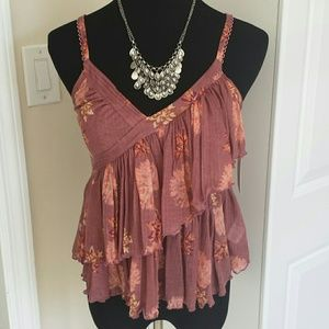 Free People Tops - NWT Free People Tiered Flowy Blouse