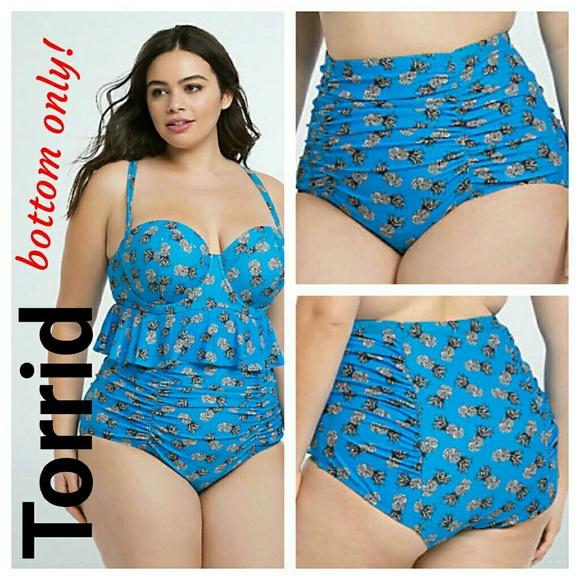 3c835ad368c Torrid Pineapple Print Ruched High Waist Swimsuit