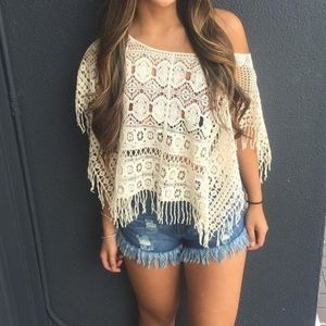 Lace Shirt/ Cover up
