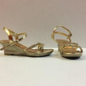 Other - Gold Crystal wedge Shoes