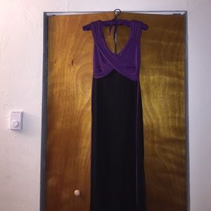 Formal dress. Black and purple size 6 but fits a 4