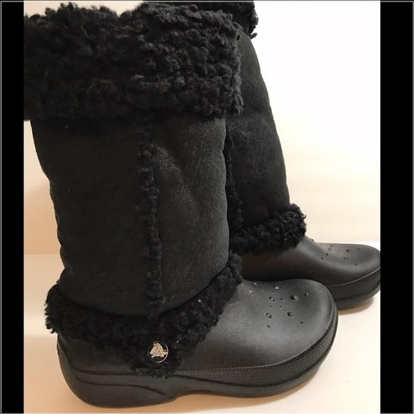 a33298b258d71e CROCS Shoes - Crocs Nadia fold over lined boots