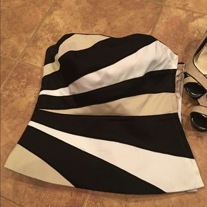 WHBM striped brassiere size 4
