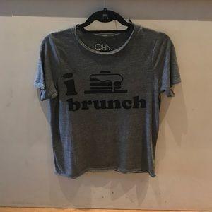 Chaser triblend I love brunch tee