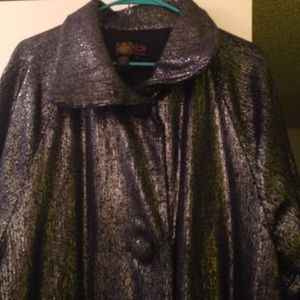 Plenty by Tracy Reese Jackets & Blazers - Stunning silver dark grey pure glitter coat large