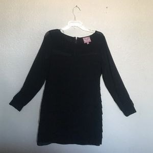 Romeo & Juliet Couture, Black Tiered Mini Dress