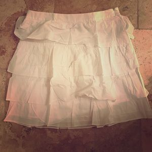 New York & Company Dresses & Skirts - New York & company new w/tags white ruffled skirt