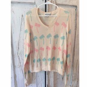 Wildfox Palm Tree Sweater 