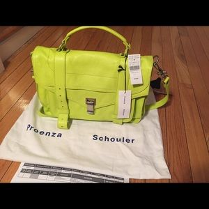 Proenza Schouler Handbags - Proenza Schouler PS1 green leather bag New W/ Tags