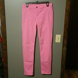 "Denim - Pink skinny jeans, 28"" waist."