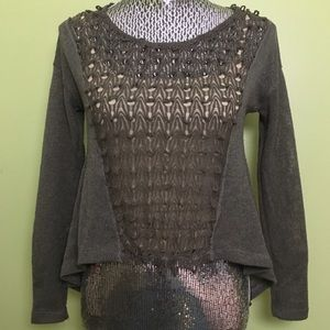 Urban Outfitters Open Knit Hi Low Sweater