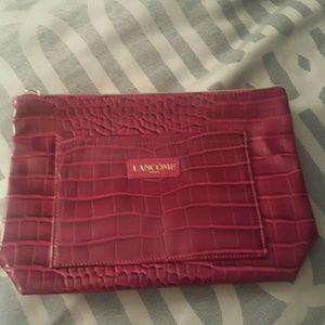Lancome raspberry makeup bag new