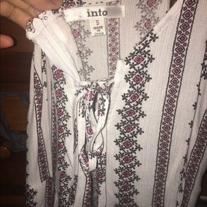 9a89645716c LF Other - LF Stores lace up tribal Maxi Romper jumpsuit
